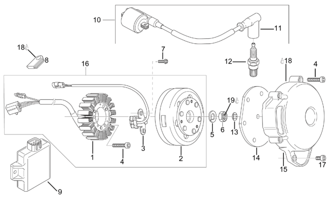 Please Scroll Down For Parts: Aprilia Etx 125 Wiring Diagram At Johnprice.co