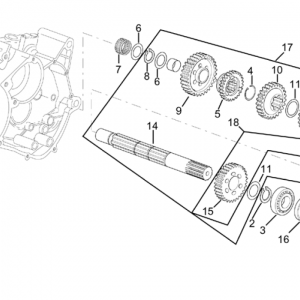 Gearbox driven shaft I