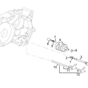 Gearbox driven shaft II