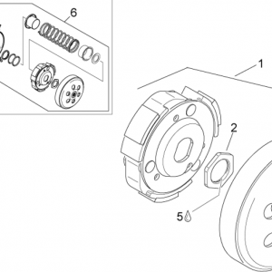 Pulley assy., driven III