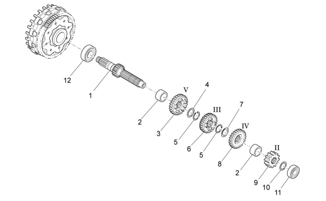 primary gear shaft