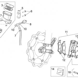 Front brake system I