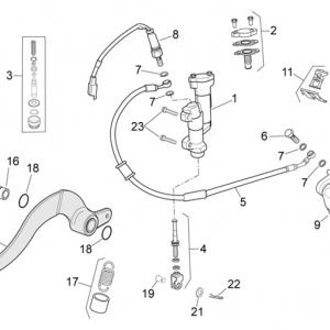 Rear brake system