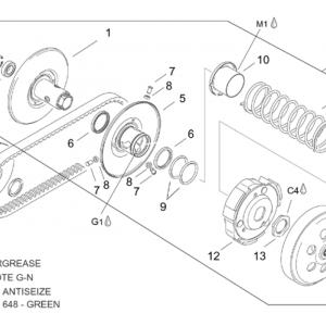 Pulley assy., driven