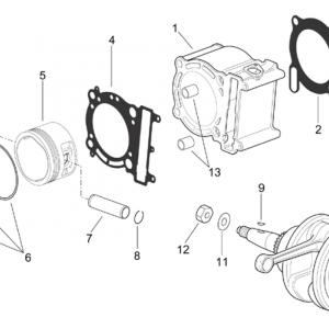 Drive shaft - Cylinder - Piston