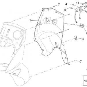 Front body - Internal shield