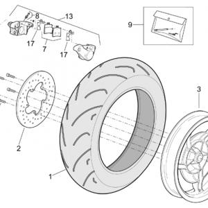 Rear wheel - Rear caliper