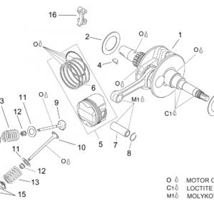 Crankshaft - valves