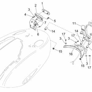 Rear body - Plate holder