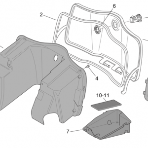 Central body - Glove comp.
