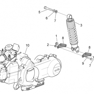 Engine - Rear shock absorber