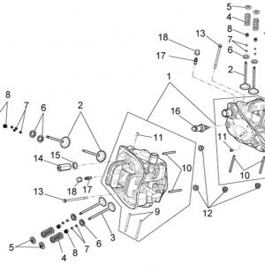 Cylinder head - valves