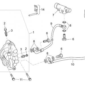 Front brake caliper