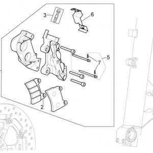 Front brake caliper I