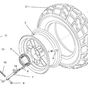 Rear wheel - drum brake