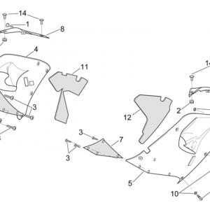 Central body - Upper fairings