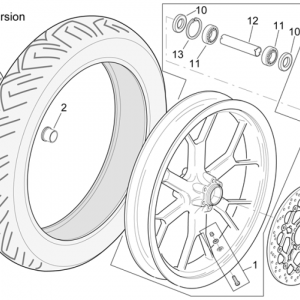 "Front wheel RSV Mille R"" Version"""