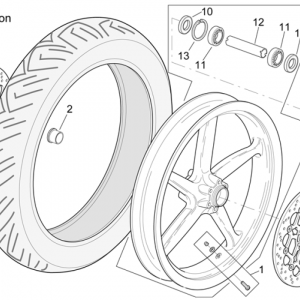 Front wheel RSV Mille Version