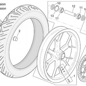 "Front wheel RSV Mille R"" Version"""
