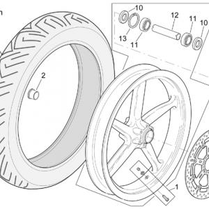 Front wheel RSV Mille Version