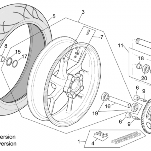 """Rear wheel RSV Mille R"""" Version"""""""