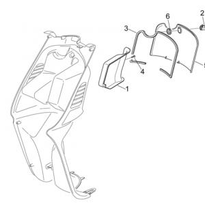 Central body II - Glove comp.door