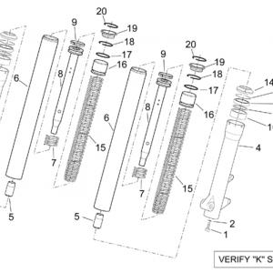 Kaifa front fork - Hubs, sleeves