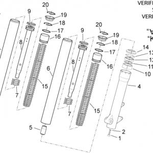Front fork - Hubs, sleeves