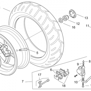 Rear wheel - disc brake