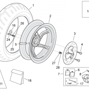 Rear wheel - disc brake