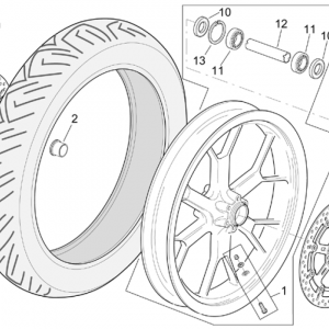 R-RF version front wheel