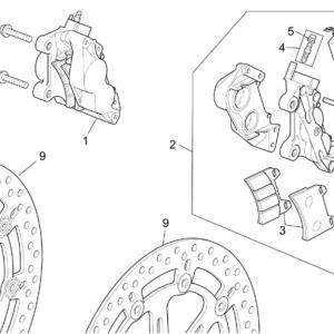 ST-RS vers. front brake caliper