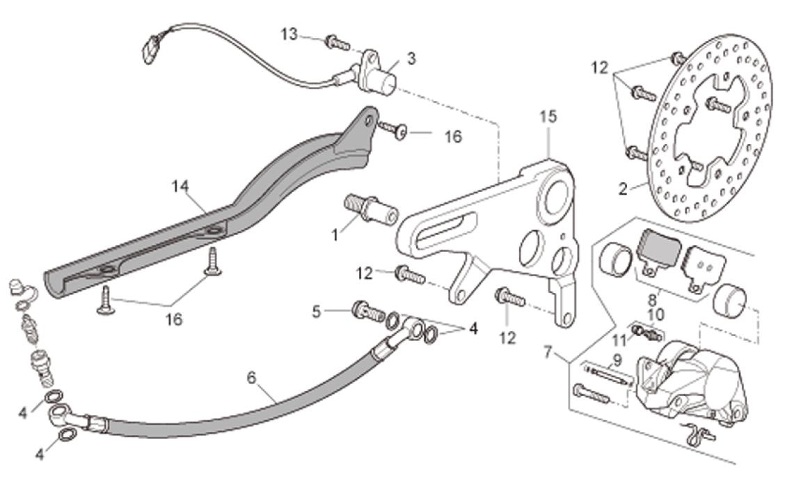 rear brake caliper