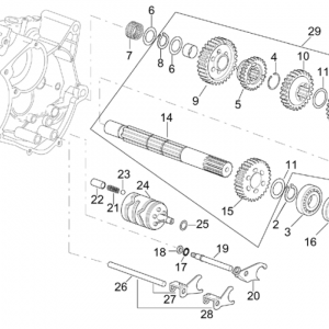 Gearbox driven shaft