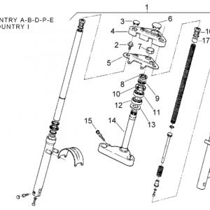 Front fork 92-93 - Stem