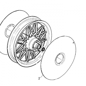 Rear wheel cap