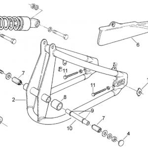 Swing arm - Shock absorber