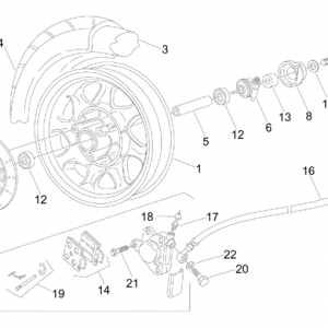 Front wheel - disc brake