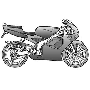 RS 125 eng.122cc 2T NOABS (APAC, EMEA, NAFTA) 1996-1998