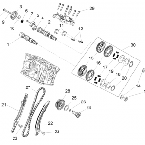REAR CYLINDER TIMING SYSTEM